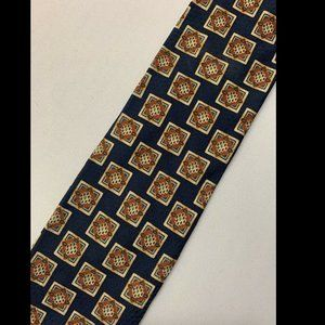Valentino Men's Brown 100% Silk Tie Made In Italy